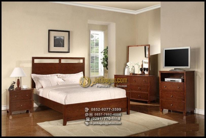 Set Tempat Tidur Minimalis Jati Harga Murah